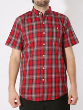 Santa Cruz Depot Button Up Shirt Red Check
