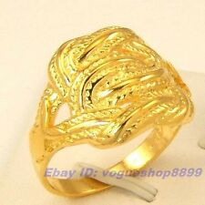 Size 9,10,11 RING,REAL EMPAISTIC 18K YELLOW GOLD GP AFRICA STYLE SOLID 4800r