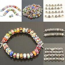 Red Blue Yellow Loose Charm Beads Big Hole DIY Fit European Bracelet EP Bangle