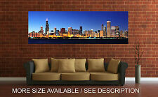 Wall Art Canvas Print Picture Chicago Buildings Skyline Panoramic View-Unframed