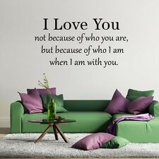 Living Room Wall Stickers Mural Home Bedroom Decal Loving Removable I love You
