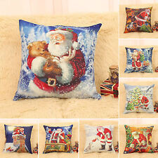 Christmas Gifts Xmas Santa Sofa Car Throw Cushion Pillows Cover Case Home Decor