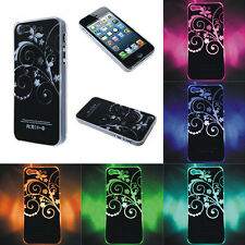 Sense Flash LED Color Changing Light Flower Case Cover For iPhone 4 5 5S Sweet