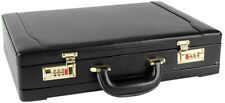 Executive Faux Leather Business Briefcase Attache Travel Case Work Bag 6906