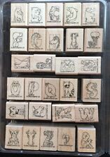 Stampin' Up Wooden Stamp Set: Animal Alphabet