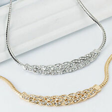 Lady Jewelry Crystal ☁Chain Choker Chunky Statement Bib LUXURY Pendant Necklace