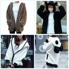 Winter Warm Hoodie Coat Women Lady Casual Soft Hooded Thick Jacket Outerwear