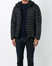 Mens stone island jacket puffa Hooded Padded down feather coat black