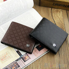 Men's Leather Wallet Pockets Card Clutch Cente Bifold Purse New 2 Colors Glitzy