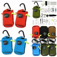 Self Help Outdoor Sporting Camping Hiking Survival Emergency Gear Tools Box Kit