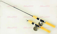 Carbon Fiber Telescopic Pocket Ice Fishing Rod Travel Spinning Pole Simple Reel
