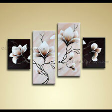 Large Contemporary Wall Art Floral Painting Tulip Flower On Canvas