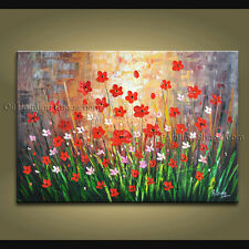 Stunning Contemporary Wall Art Floral Painting Daisy Flower Paintings
