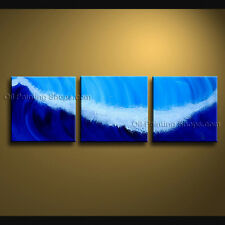 Handmade Stunning Contemporary Wall Art Seascape Painting Canvas Stretched