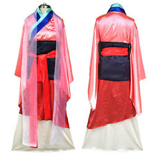 Hua Mulan Cosplay Deluxe Princess Satin Costume Fancy Dress Party Clothing Adult