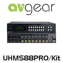 AVGear UHMS88PRO 4K 8  8 HDBaseT HDMI Matrix Switcher (70m)