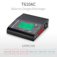 T610AC DC 120W Balance Charger w/ LCD Touch Screen for LiPo LiFe Battery K9S6