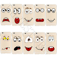 Hot Skin Pattern Soft Silicone TPU Clear Back Case Cover For iPhone 6 6s 7 Plus