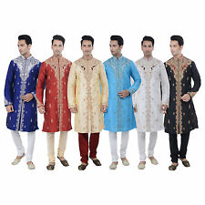 Ethnic Indian Designer Kurta Sherwani for Men 2pc Suit - (Worldwide Postage)