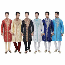 Indian Designer Kurta Sherwani for Men 2pc Suit - Worldwide Postage