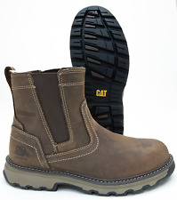 Caterpillar Pelton Brown Leather Steel Toe Slip Resistant Work Boot P90721