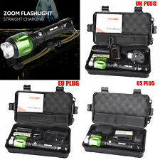5000lm G700 X800 XML T6 LED Zoom Tactical Military Flashlight Torch Lamps Set US