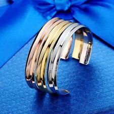 1x Luxury Stainless alloy Cuff Opening Bracelet Bangle For Women Jewelry Gift PK