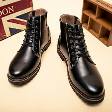 Men Winter Casual Leather Wing Tip High Top Dress Shoes Ankle Boots Oxfords W132