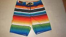 Hang Ten Mens Stripes Board/Swimwear  Shorts Multicolor Sz 34  - NWT $40