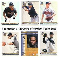 2000 Pacific Prism Baseball Set ** Pick Your Team **