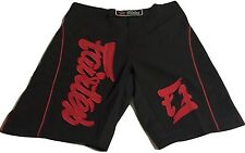 FAIRTEX MMA BOARDSHORTS - AB9- BLK/RED-100% POLYESTER-GREAT FOR ALL SPORT/CASUAL