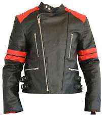 Old School Leather Jacket, Motorcycle Bikers jacket Leather Jacket 5x Protectors