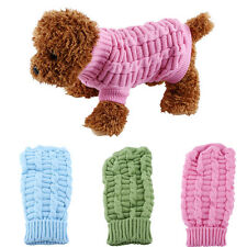 Small Pet Dog Puppy Knit Sweater Warm Coat Jacket Winter Outerwear Dresses JS
