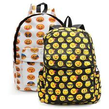 Men Women Canvas Emoji Print Backpack Daypack Shoulder School Bag Rucksack AU