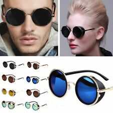 Fashion Steampunk Sunglasses 50s Round Glasses Cyber Goggles Vintage Blinder