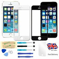 Withe & Black Front Outer Screen Glass Lens Replacement For Apple iPhone 5/5S