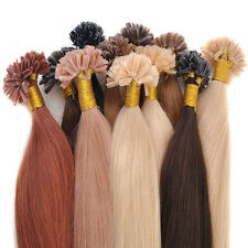 """100s 0.5g/stands Straight Stick Nail U Tip Human Hair Extension 18"""" 20"""" 22"""" 50g"""