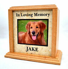 UV LED Photo Monument Pet Cremation Urn with Marble Insert