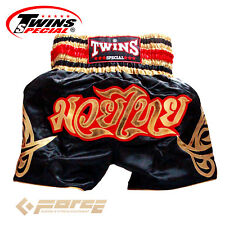TWINS Special Pro Muay Thai Kick Boxing Shorts Pants Black&Gold T-154