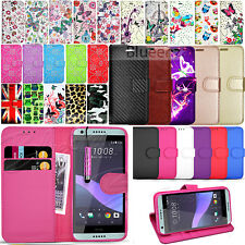 For HTC Desire 650 - Wallet Leather Case Flip Cover +  Screen Protector & Stylus