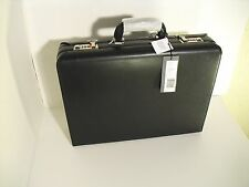 """Kenneth Cole """"Lock It Up"""" Black Leather Attache"""