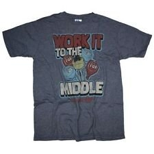 Junk Food T-Shirt Men - Workout it to the Middle - Blue