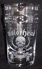 """New Etched """"MOTORHEAD PINT GLASS""""  - Can Be Gift Boxed - Original Gift"""