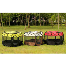 Foldable Pet Dog Cat Playpen Tent Portable Exercise Fence Kennel Cage Crative