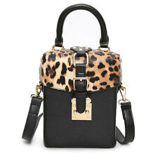 leopard box bag clutch women bags messenger shoulder crossbody bag fashion style