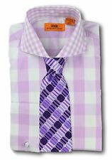 Dress Shirt Steven Land - Spread Collar  French Cuff-Lilac/Purple-DC50-LC