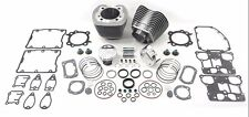 """Silver 95"""" Twin Cam Big Bore Cylinder and Piston Kit For Harley TC-88 2000-2006"""