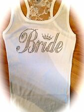WHITE LACE PRINCESS BRIDE TANK TOP . BRIDAL SHOWER GIFT . BRIDE TO BE TANK TOP