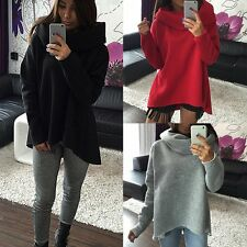 Fashion Womens Casual Long Sleeve Hoodie Jumper Pullover Sweatshirt Tops T-Shirt