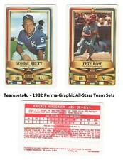 1982 Perma-Graphic All-Stars Credit Cards Baseball Set ** Pick Your Team **